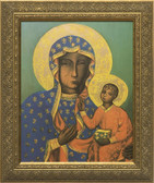 Our Lady of Czestochowa Gold Framed Art