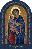 Our Lady of Good Health Prayer Arched Magnet