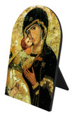 Our Lady of Vladimir Arched Desk Plaque