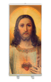 Antique Sacred Heart Banner Stand