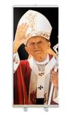 Pope St. John Paul II Waving Banner Stand