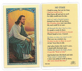 No Time Laminated Prayer Card