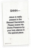 Jesus Is Present Laminated Prayer Card