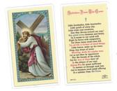 Splinters From The Cross Laminated Prayer Card