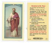 Novena To St. Paul Laminated Prayer Card