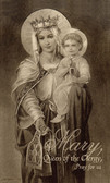 Mary, Queen of the Clergy, Prayer Card for Priests