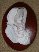 Madonna and Child Wall Plaque--wood mount