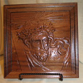 "Unique Hand Crafted Solid Wood 12""x12"" Crown of Thorns"