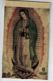 Faux Jute, true to color, proportion, Lady of Guadalupe print