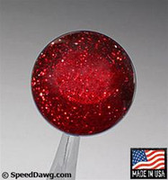 Transparent Red Metal Flake Shift Knob
