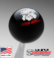 Black Speed Dawg Graphic Shift Knob