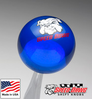 Transparent Blue Shift Knob with Speed Dawg Logo