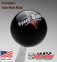 Black Pinstripe Speed Dawg Shift Knob by Von Hot Rod