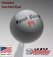 Gray Pinstripe Speed Dawg Shift Knob