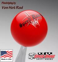 Red Pinstripe Speed Dawg Shift Knob by Von Hot Rod