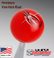 Red Von Hot Rod Signature Pinstripe Shift Knob