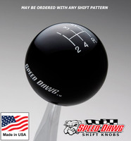 Black Shift Knob with Engraved Shift Pattern & Speed Dawg Logos