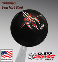 Black Von Hot Rod Signature Pinstripe Shift Knob