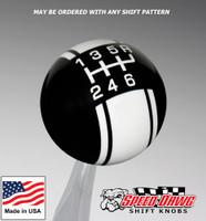 Black / White Racing Stripe Shift Knob