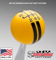 Yellow / Black Rally Stripe Shift Knob