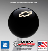 Chevrolet Bow Tie Gold Emblem Shift Knob