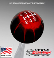 Black Red Splash / White Pro Series Shift Knob