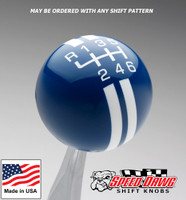 Dark Blue / White Rally Stripe Shift Knob