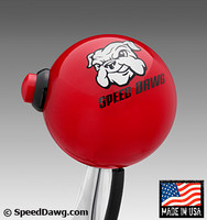 Red Shift Knob with 12V Line Lock / NOS Button & Speed Dawg Logo