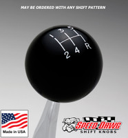 Black Shift Knob with Engraved Shift Pattern