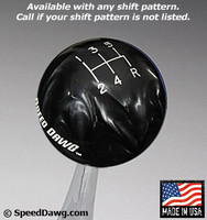 Black Pearl Shift Knob with Engraved Shift Pattern & Logos