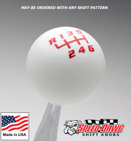 White / Red Competition Pattern Shift Knob