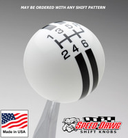 White / Black Rally Stripe Shift Knob