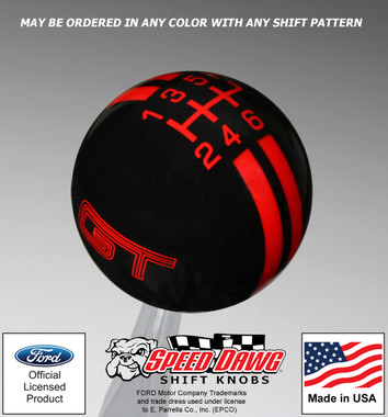 Ford Mustang GT Rally Stripe Shift Knob
