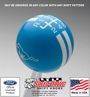 Mustang Running Pony Rally Stripe Shift Knob