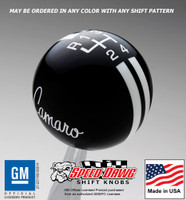 '70 - '74 Camaro Logo Rally Stripe Shift Knob
