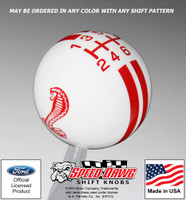 Mustang Cobra Rally Stripe Shift Knob
