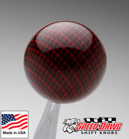 Candy Red Carbon Fiber Finish Shift Knob