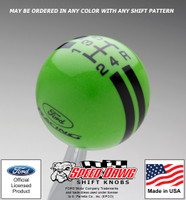 Ford Racing Logo Rally Stripe Shift Knob
