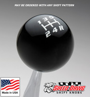Black / White Competition Shift Pattern Shift Knob