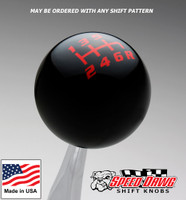 Black / Red Competition Shift Pattern Shift Knob