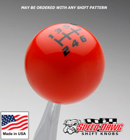 Orange / Black Competition Shift Pattern Shift Knob
