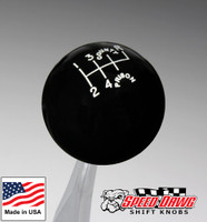 County Prison Black 6 Speed Shift Knob Reverse Upper Right