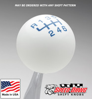 White / Dark Blue Pro Series Shift Knob