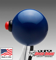 Dark Blue Shift Knob with Line Lock / Nitrous Button
