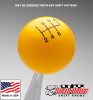 Yellow Shift Knob with Engraved Shift Pattern