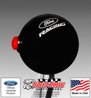 Ford Racing Black Shift Knob with Line Lock / NOS Button