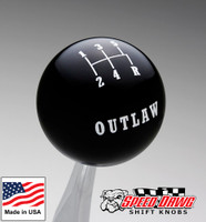Outlaw Black 5 Speed Shift Knob Reverse Lower Right