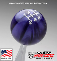 Purple Pearl / White Competition Shift Pattern Shift Knob