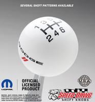 Dodge Stripe Logo Shift Knob with Inlaid Shift Pattern
