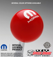 Mopar Logo Shift Knob Red with White